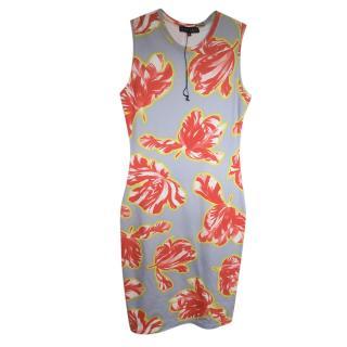 Jonathan Saunders Grey & Orange Sleeveless Dress