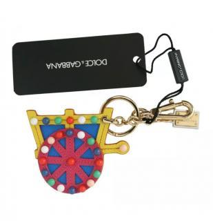 Dolce & Gabbana Multicoloured Wagon Leather Keychain