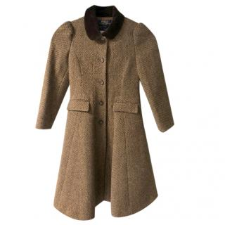 Polo Ralph Lauren Brown Hunting Brown Tweed Coat