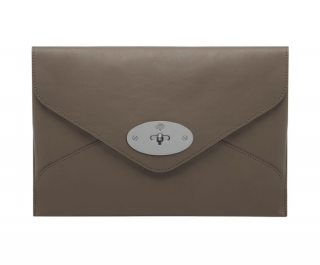 Mulberry Mink Calfskin Envelope Clutch