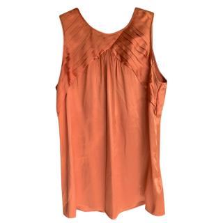Burberry Orange Silk Blend Top