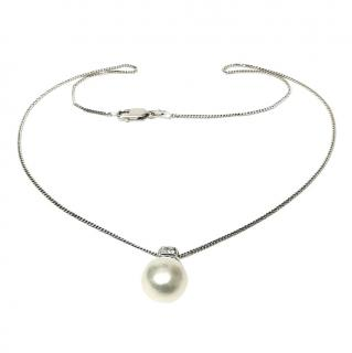 Bespoke 18ct White Gold South Sea pearl & Diamond Pendant