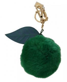 Dolce & Gabbana Green Fur Key Chain