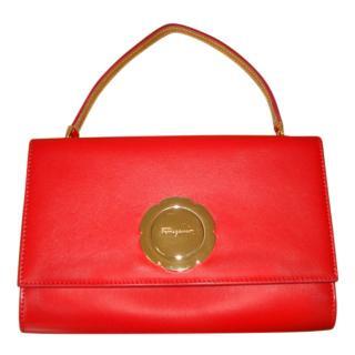 Ferragamo Red Limited Edition Vera Mini Crossbody Bag