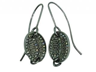 Dior Silver Tone J'adore Drop Earrings