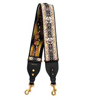 Chrisitan Dior Embroidered Studded Canvas Shoulder Strap