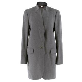 Stella McCartney Grey Wool & Cashmere Tailored Coat