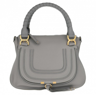 Chloe Marcie Medium Shoulder Bag in Cashmere Grey