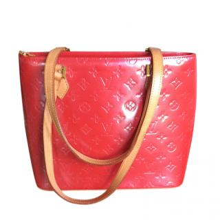 Louis Vuitton Red Vintage Vernis Tote Bag