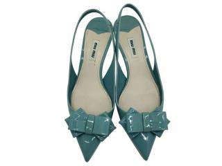 Miu Miu Turquoise Slingback Sandals