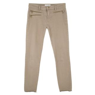 DL 1961 Khaki Mid Rise Instasculpt Skinny Jeans