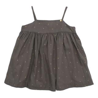 Nanos Baby Grey Polka Dot Dress