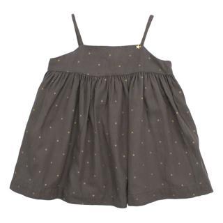 Nanos Baby Grey Polka Dot Dress
