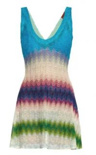 Missoni Mare Knit Crochet Mini Dress