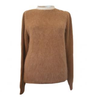 Max Mara Wool & Cashmere Knit Two-Tone Jumper