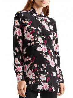 Equipment Black Floral Silk Shirt