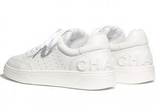 Chanel SS20 Logo Back White Sneakers