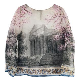 Dolce & Gabbana Sheer Printed Blouse