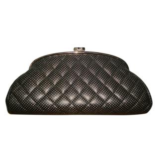 Chanel Perforated Leather Clutch