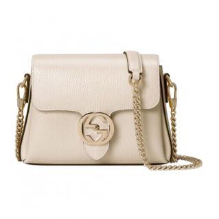 Gucci Ivory Interlocking GG Shoulder Bag