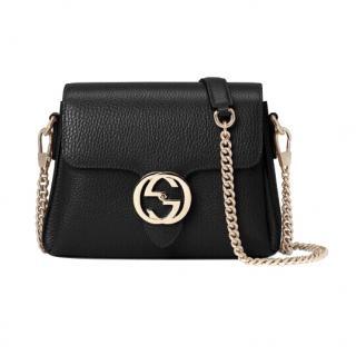 Gucci Black Interlocking GG Shoulder Bag