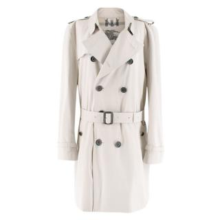 Burberry Beige Mid-length Kensington Trench Coat