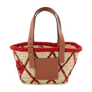 Loewe Woven Limited Edition Animal Wicker Tote Bag