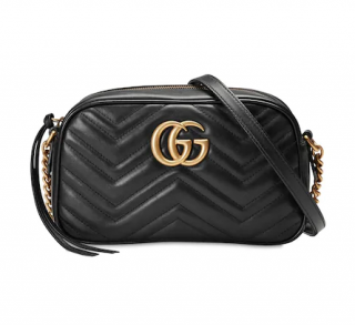 Gucci Black Leather Marmont Camera Bag