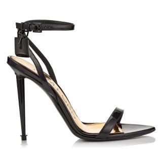 Tom Ford Barely There Padlock Black Sandals