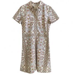 Tory Burch Poplin Printed Shirt Dress