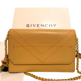 Givenchy Beige Leather Eden Chain Wallet