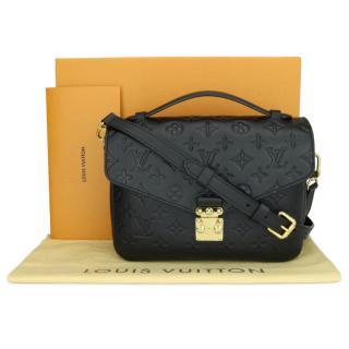 Louis Vuitton Black Monogram Empreinte Pochette Metis Bag