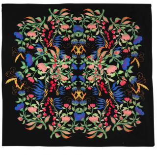 Yolke Anais Black Printed Silk Scarf