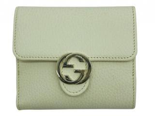 Gucci Cream GG Compact Wallet