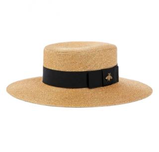 Gucci Black & Gold Lam� Papier Hat