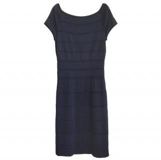 Dior Blue Knit Fitted Dress