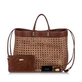 Dolce & Gabbana Raffia Tote Bag