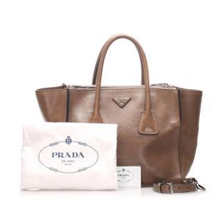 Prada Leather Twin Pocket Satchel