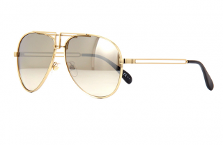 Givenchy Polished Gold Tone Mirrored Sunglasses