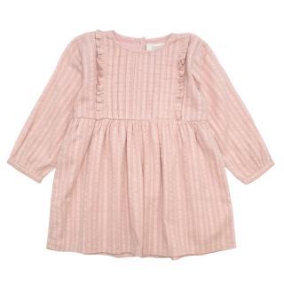Bonnet a Pompon Pink Long Sleeve Patterned Dress