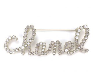 Chanel Faux Pearl & Crystal CHANEL Pin Brooch