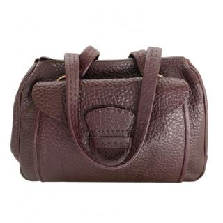 Prada Vintage Grained Leather Oxblood Tote Bag