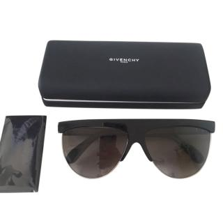 Givenchy Black Square Aviator Sunglasses