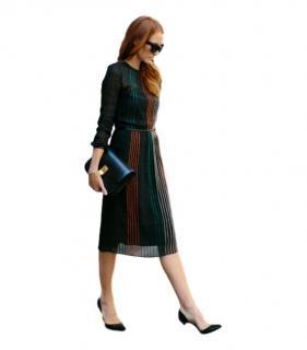 Vanessa Bruno Striped Chiffon  Sheer Dress