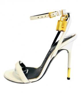 Tom Ford White Padlock Sandals