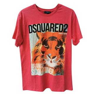 DSquared2 Tiger Print Scouting T-Shirt