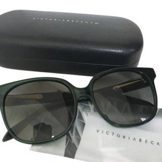 Victoria Beckham Bottle Green Sunglasses
