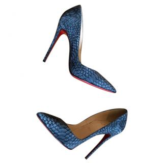 Christian Louboutin Charcoal Watersnake Pumps
