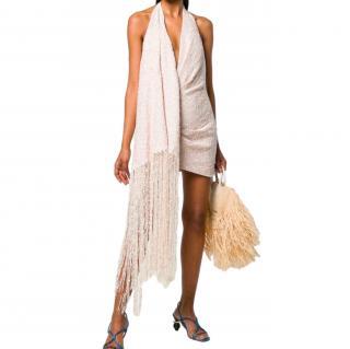 Jacquemus Fringed Valoria Woven Mini Dress