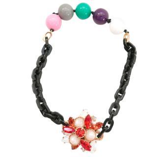 Miu Miu Crystal Beaded Wrap Bracelet/Choker